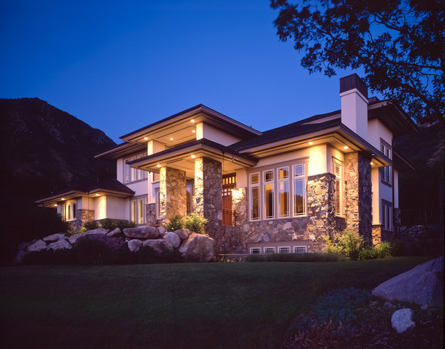 prairie style residence contemporary exterior salt lake city