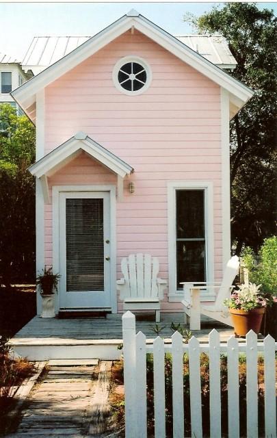 Precious Pink Cottage tropical-exterior
