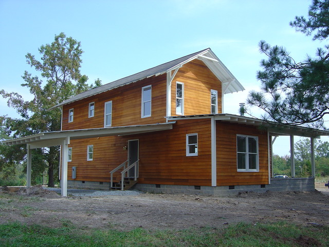 Prefab farmhouse farmhouse exterior raleigh by for Modular farmhouse