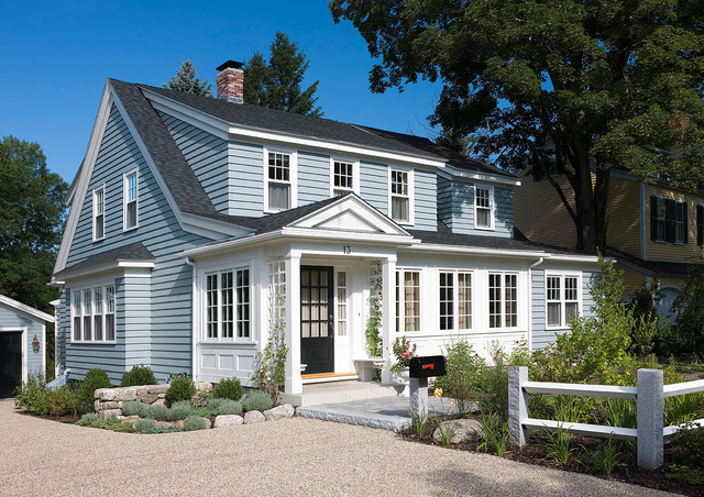 Pretty cape traditional exterior boston by for House plans with dormers and front porch