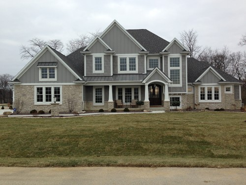 What Is The Gray Color Of The Siding And Stone Work