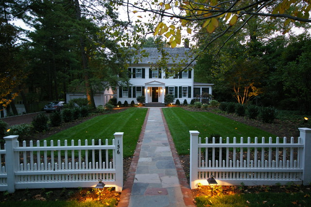 Princeton colonial traditional exterior philadelphia for Colonial landscape design