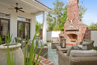 Private Courtyard Traditional Exterior New Orleans By Highland Homes Inc