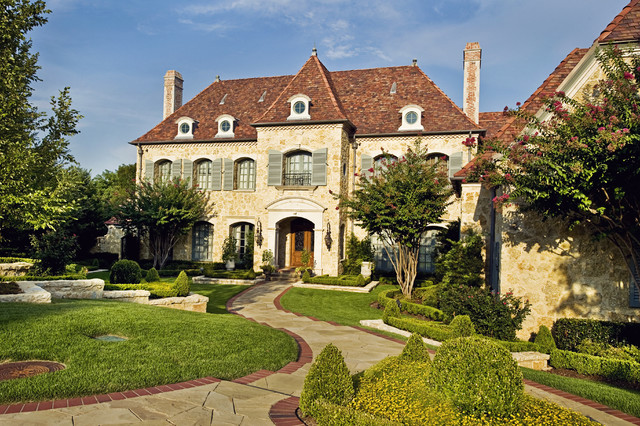 Private residence country french traditional exterior for Traditional country homes