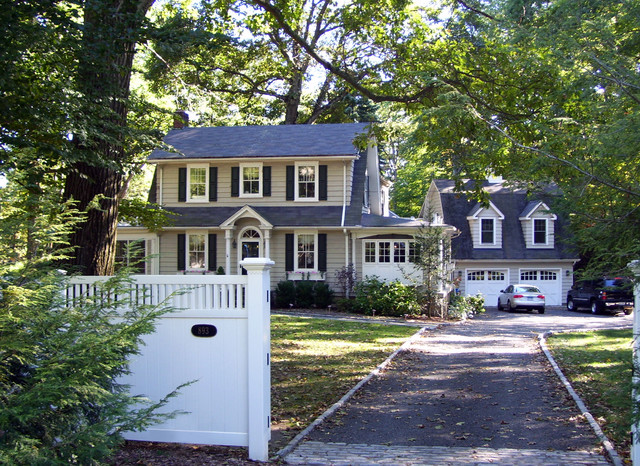Private residence new canaan ct traditional exterior for Colonial home additions