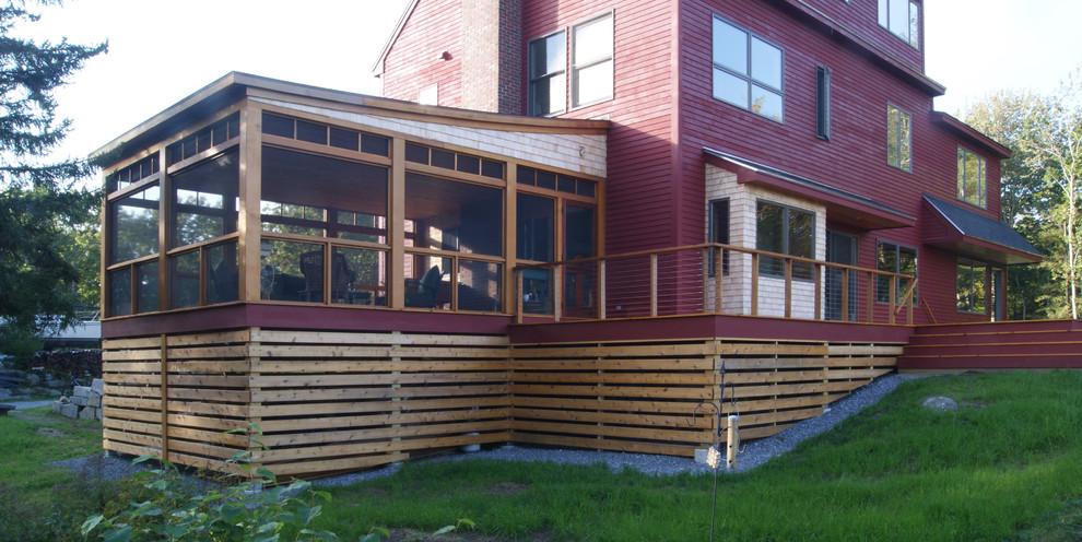 Contemporary exterior home idea in Portland Maine