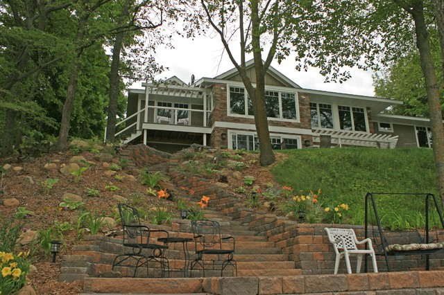 private residence remodel and addition on lake carlos On exterior design alexandria mn