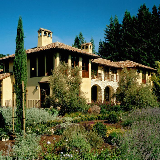 Private Residence - Woodside, California mediterranean exterior