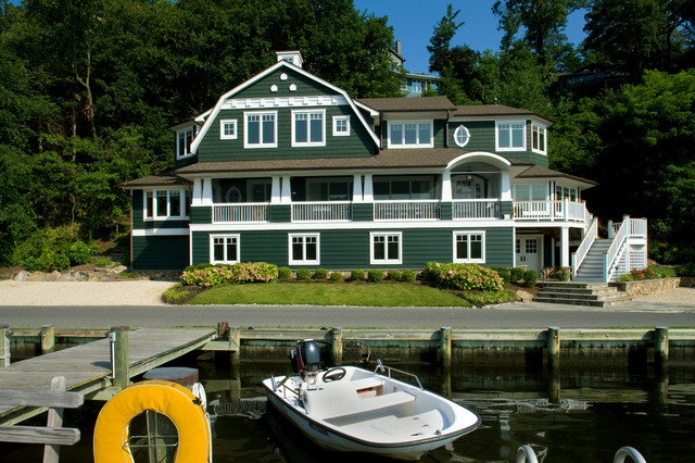 Private Waterfront Residence on the Idle Creek traditional-exterior