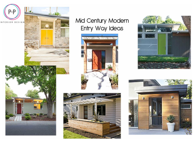 Project Mood Boards Midcentury Exterior