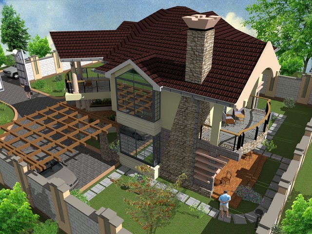 Proposed 4 bedroom maisonette murang 39 a for Roofing designs in kenya