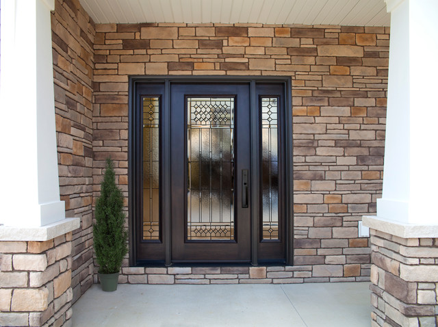 provia signet fiberglass door series transitional exterior