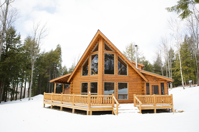 Prow front chalet for Prow front home plans
