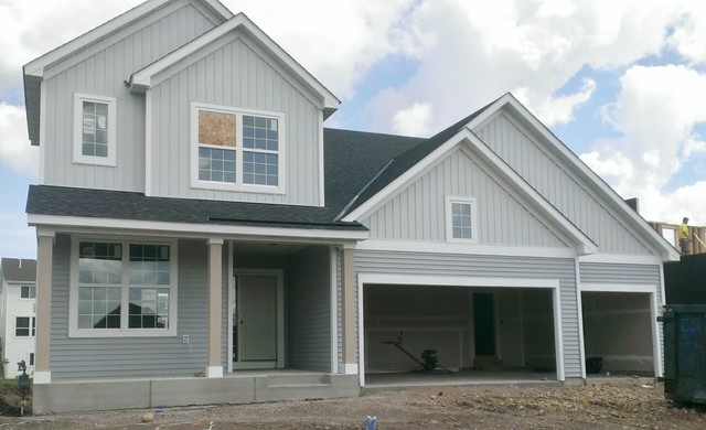 Pulte homes woodbury contemporary exterior for Lp smartside lap siding sizes