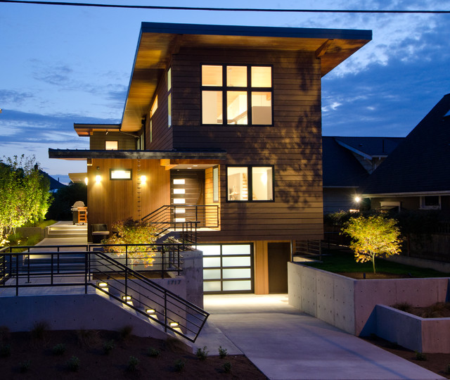 Queen anne residence contemporary exterior seattle for Contemporary residential architecture