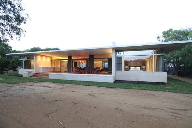 Quindalup house moderno facciata perth di banham for Moderno bagno ranch