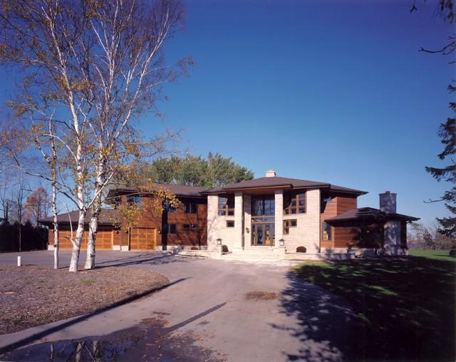 Racine Custom Home contemporary-exterior