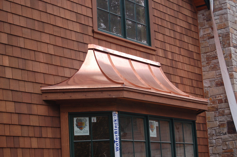 Radius Copper Bay Window Roof Traditional Exterior Seattle By Kollmar Sheet Metal Works Inc