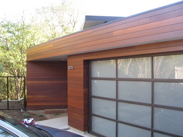 Rainscreen Hardwood Siding Project - Modern - Exterior - Orange ...