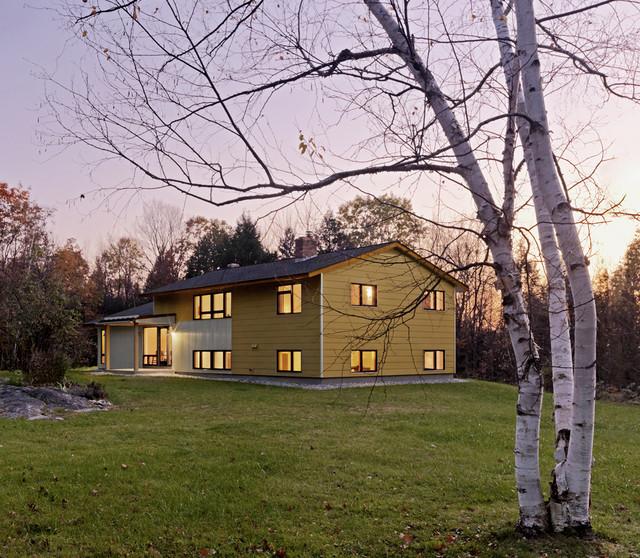 Raised Ranch Retrofit contemporary-exterior