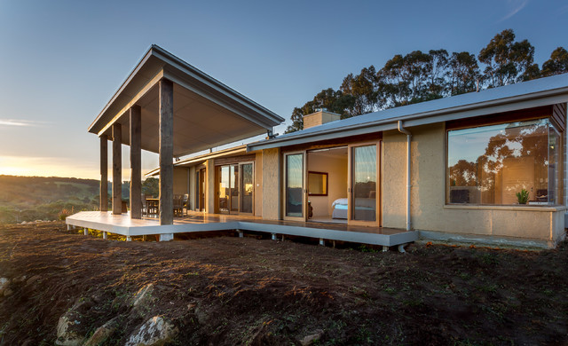 Rammed earth home country exterior adelaide by for Home designs adelaide