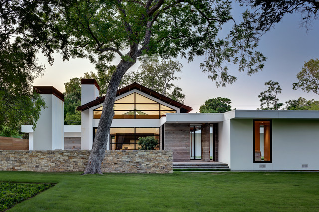 Ranch home goes modern contemporary exterior dallas for 70s house exterior makeover australia
