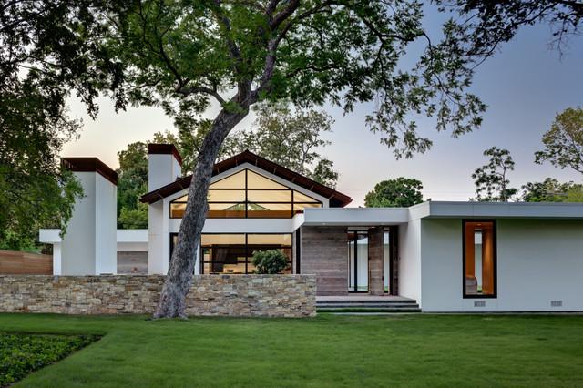 Ranch Home Goes Modern Contemporary Exterior Dallas