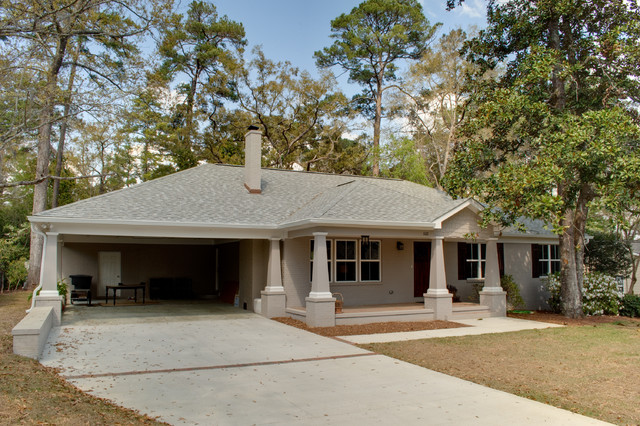 Ranch House Renovation Traditional Exterior Jacksonville By Magnificent Remodel Exterior House