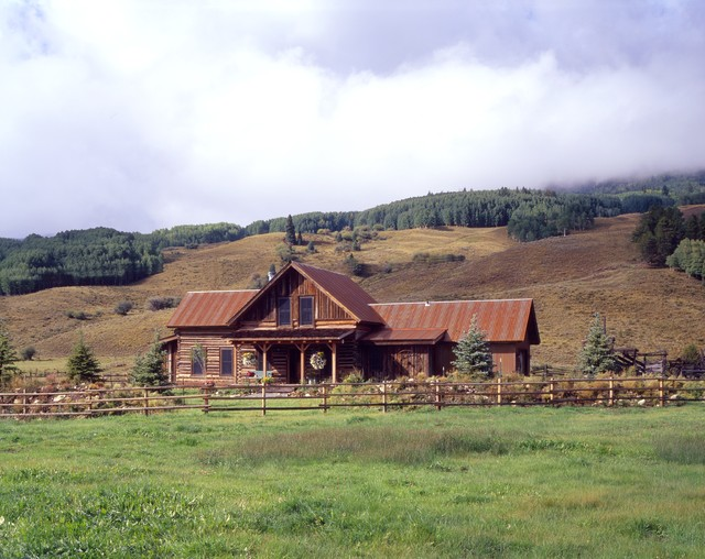 Ranch Log Cabin Rustic Exterior Other Metro By