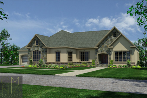 Ranch style home traditional exterior philadelphia by omnia group architects - Rancher style house property ...