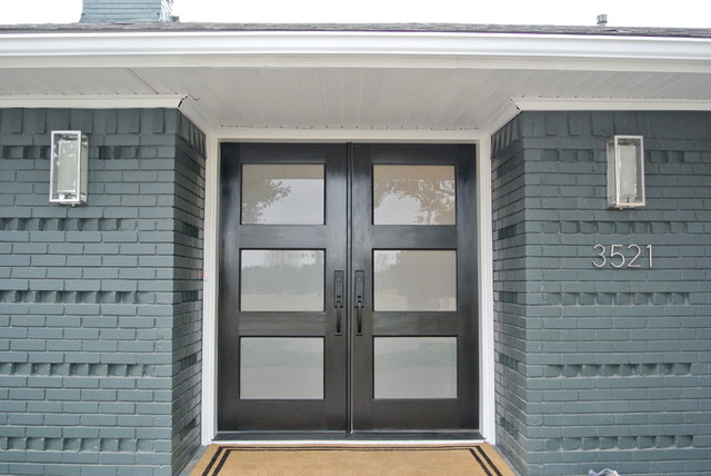 Ranch style renovation for Front door styles for ranch homes