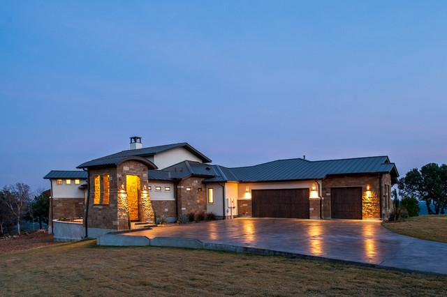 Ranchland hills contemporary custom traditional for Contemporary traditional home exterior