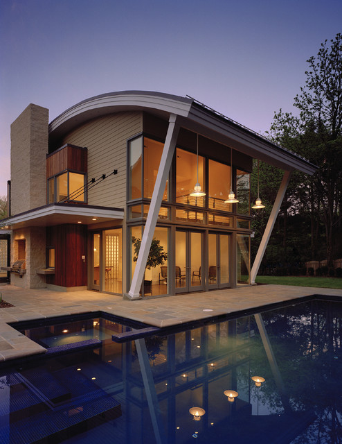 Randall mars contemporary exterior dc metro by for Curved roof house designs