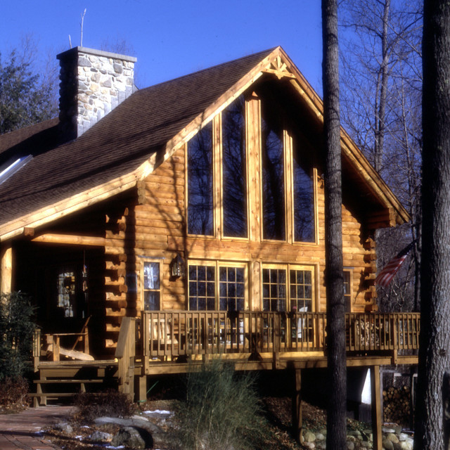 Real Log Home Cabin Model