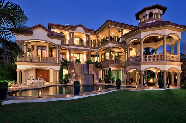 Beachfront luxury mediterranean exterior miami by for Big houses in miami