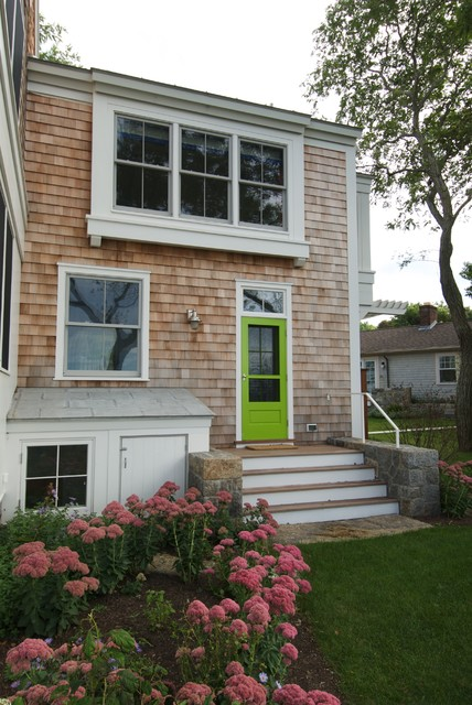 Rear Entry Beach Style Exterior Boston By S H Construction