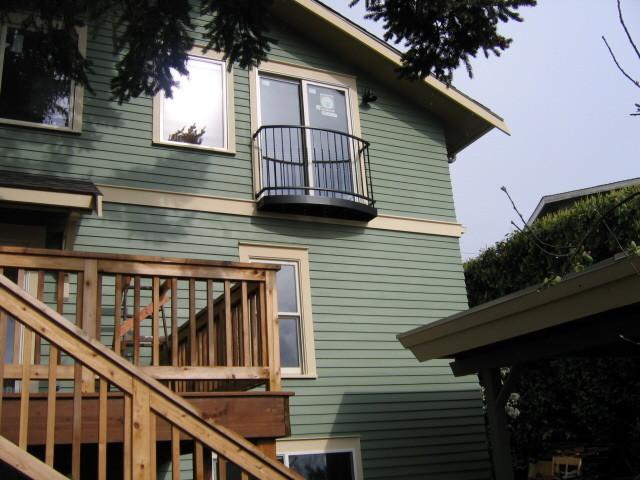 Rear Juliet Balcony Craftsman Exterior Seattle By