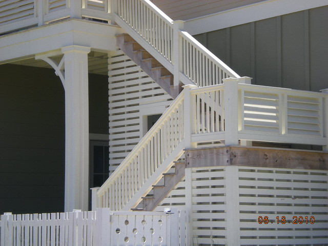 Rear Porch Exterior Stairs Traditional Exterior