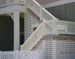 Rear Porch Exterior Stairs traditional-exterior