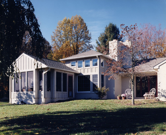 Rear - View to Screen Porch & Family traditional-exterior