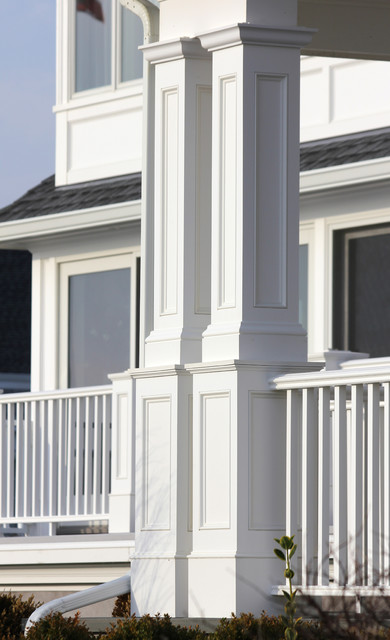 Recessed Pvc Column Wraps Beach Style Exterior Other By Eastern Architectural Millwork