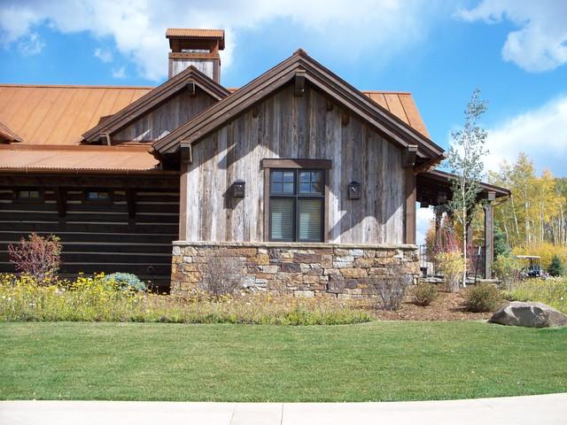 Barnwood Siding Rustic Exterior Denver By American
