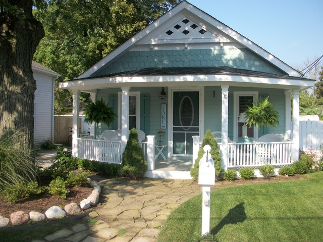 Reconstruction Of Vintage Beach Cottage Traditional Exterior