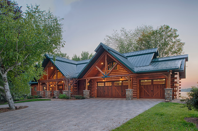 Refined Log Home Rustic Exterior Other By Destree