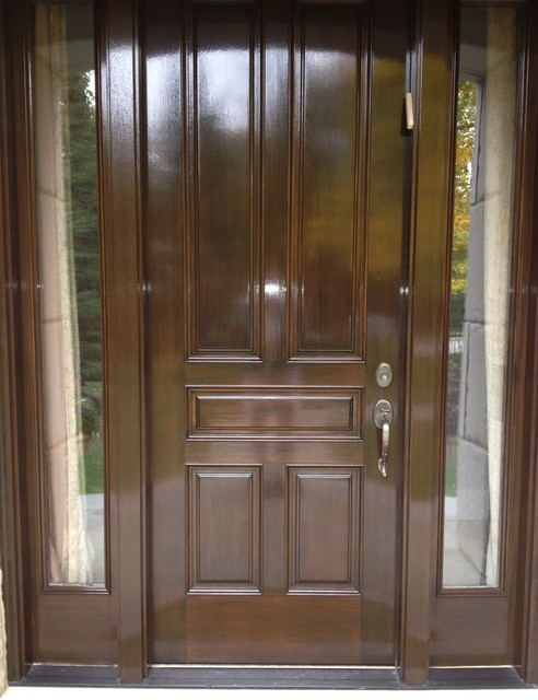 Refinishing Front Door Exterior Chicago By Level 5 Finishes