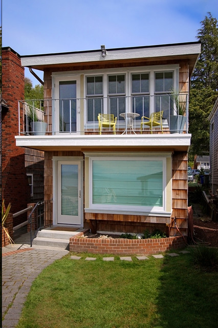 Reid Beach House Beach Style Exterior Seattle By