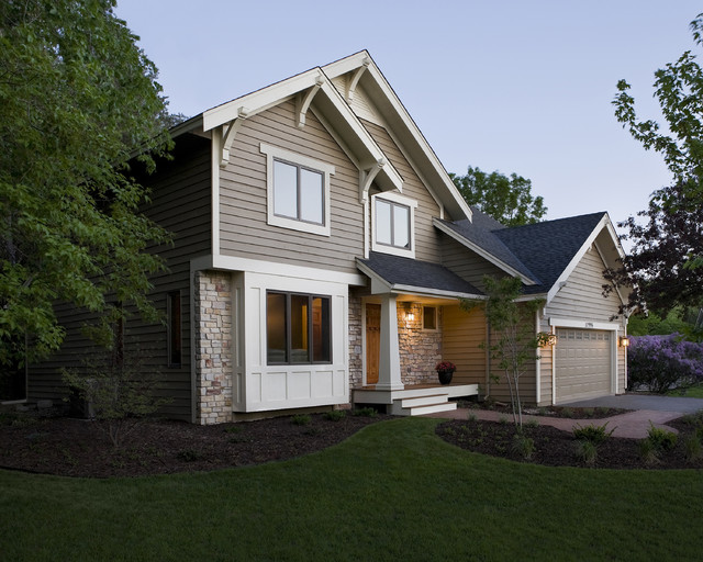 Remodel Of 1980 39 S Home Exterior Traditional Exterior Minneapolis By Trehus Architects