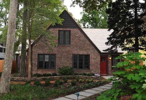 Exterior color ideas with brick home