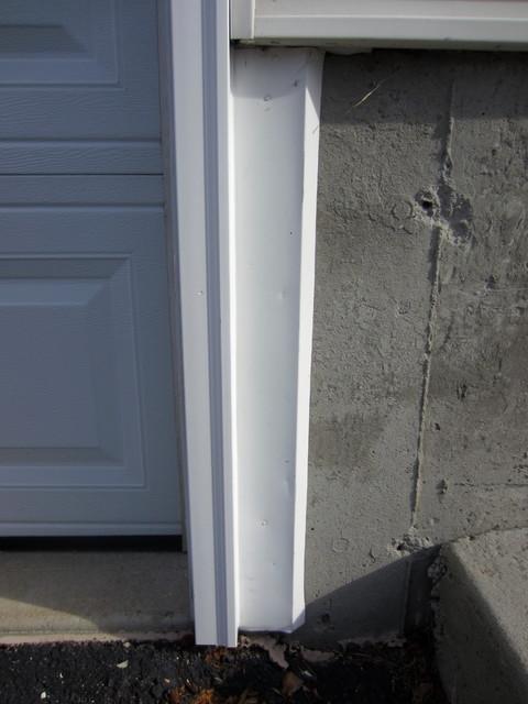 replacing garage door trim