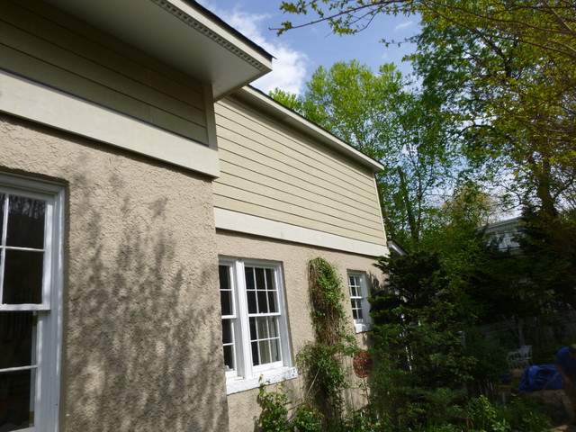 Replacing hardboard siding and rotted wood trim